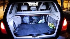 Замена света на LED в багажнике форестера